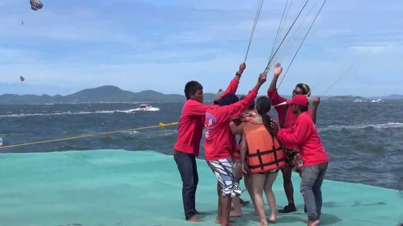 parasailing in Thailand, coral island