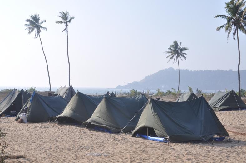 Feet on the map, Golven Beach resort, Vengurla