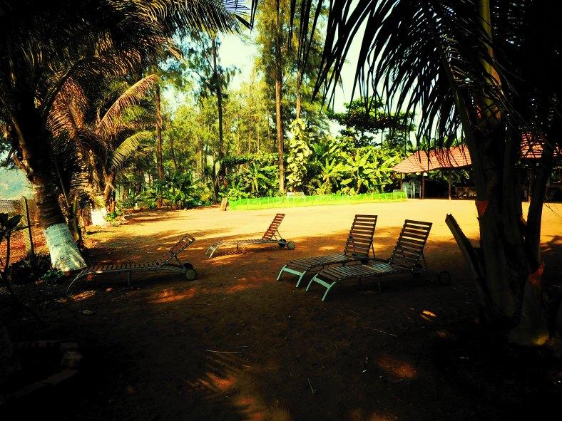 Feet on the map, Golden Swan Beach Resort, Murud