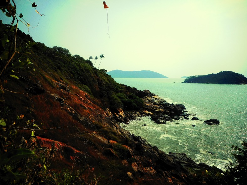 Feet on the map, Karwar, Kurumgad Island, Deepika