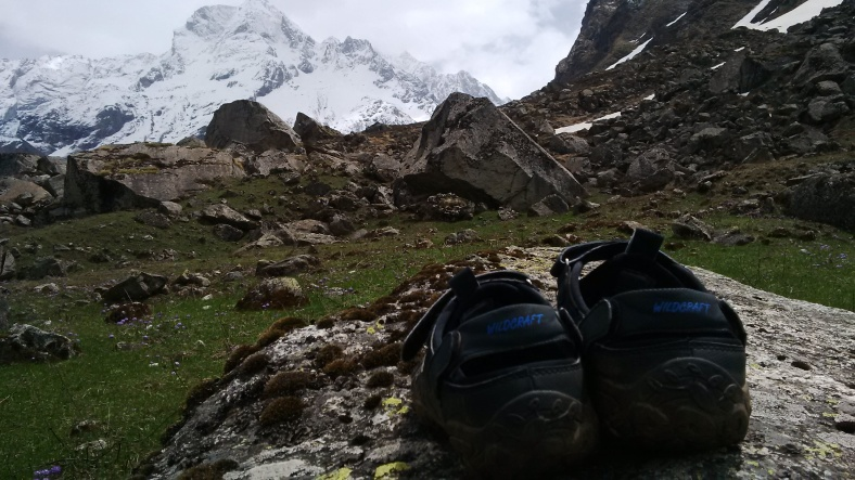 Feet on the map, Seema, Har ki Doon, trek, Himalayas, India, Deepika, Ata peak