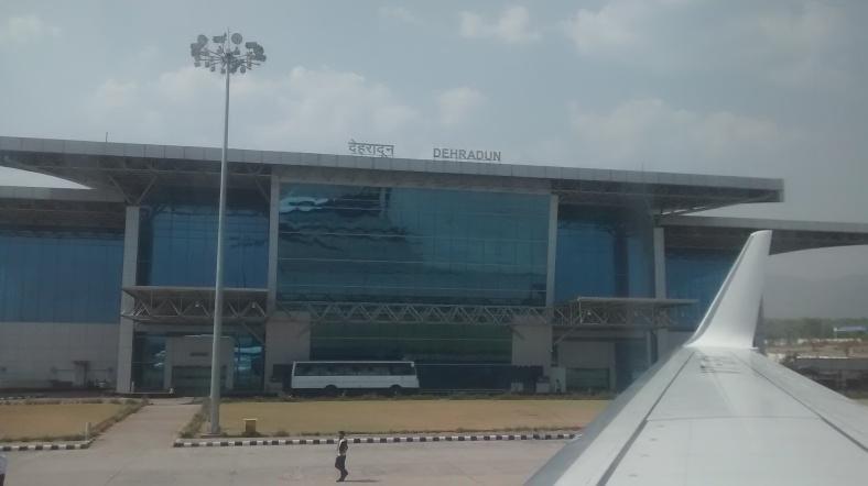 Feet on the map, Dehradoon airport, India, Himalayas, Har Ki Doon