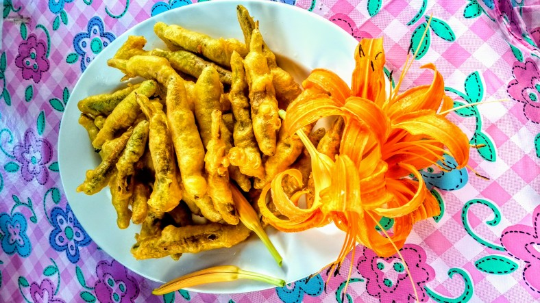 Daylily flowers are used to create local delicacies